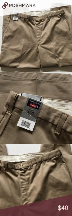 NWT Men's Tan Khaki Pants Brand new with attached tags. Men's size 46 waist by 32 length. Timber Creek by Wrangler  Pants Chinos & Khakis