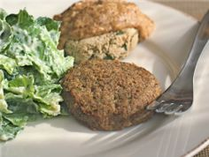 """Easy Breakfast """"Sausage"""" Patties and Biscuits with Smoky Almond Gravy. A quick and easy, perfect gluten-free and vegan breakfast or brunch!"""