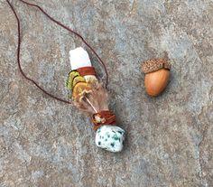 Dogwood, Tree Agate, Scolecite, Citrine Madeira Shamanic Traveling Wand, OOAK Healing Pendant, Native American, Reiki Energy, Magic Wand by JourneyThereWands on Etsy