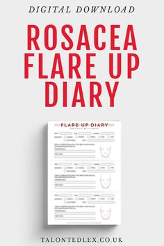 FREE Rosacea Flare Up Diary from Talonted Lex. I've developed a digital download sheet to help you keep track of your rosacea flare ups. Rosacea advice and tips from a sufferer. Free printable with rosacea tips. #talontedlex #freeprintable #freedownload How To Make Notes, How To Get, Contact Dermatitis, Flaky Skin, Try To Remember, Follow Me On Instagram, Free Printables, About Me Blog, Tips