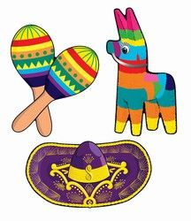 Have lots of fun decorating for a fiesta party or a Cinco de Mayo holiday when you order the Fiesta Cutouts. The Fiesta Cutouts are sold for a really good price for a package that contains three (3) cutouts.