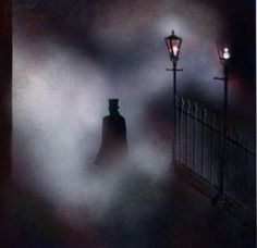 Jack the ripper. Has to provide a bit of inspiration to any Victorian serial killer tale Film Noir Photography, Dark Photography, Black And White Photography, Victorian London, Victorian Gothic, Gothic Horror, Horror Art, Dark Fantasy Art, Dark Art