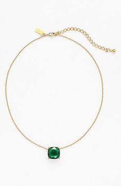 Pretty! Adore this emerald stone pendant necklace.