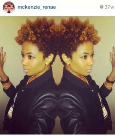 Taper natural hair cut.... Ms McKenzie Renee #HairCrush love the color