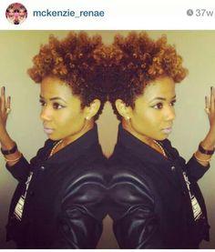 Taper natural hair cut.... Ms McKenzie Renee #HairCrush love the color