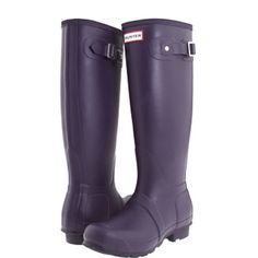 Original Tall Hunter Boots in aubergine Original Tall Hunter Boots in aubergine (deep, dark purple color). In great condition/ like new! 6M/7F. I'm a shoe size 8 and these fit. Will only trade for short Hunter boots (size 7). Selling on M. Let me know if you have any questions :) Hunter Boots Shoes Winter & Rain Boots