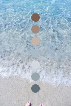 Sea blues and sandy earthy neutrals for a calming color palette inspiration Earthy Color Palette, Neutral Colour Palette, Colour Schemes, Color Combos, Coastal Colors, Coastal Color Palettes, Calming Colors, Colour Board, Corporate Design