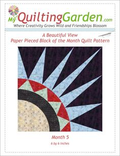 Paper Pieced Quilt Block Pattern New York Beauty by QuiltingGarden