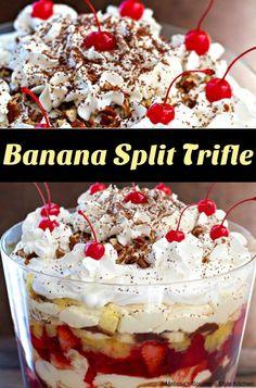 Banana Split Trifle