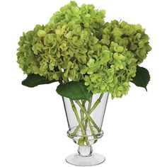 25 best green silk hydrangea images on pinterest silk hydrangea gorgeous lime green silk hydrangea floral arrangment in a clear vase gorgeous lime mightylinksfo