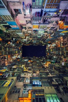 "Yick Cheong Buildings in Quarry Bay (Hong Kong) | Peter Stewart, a travel photographer based in Australia, has found a great way to make Hong Kong's masses of repetitive high-rise apartment buildings interesting again. His ""Stacked – Hong Kong"" architectural photography series seeks out some of the most repetitive sights in Hong Kong and turns them into hypnotising compositions."