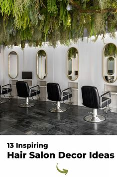 The most beautiful and modern hair salon decor ideas and hair salon designs. Find hairdressing salon pictures of interior design, salon layouts, hair salon decorations, hair styling stations, receptions, and salon waiting areas. Beauty Bar Salon, Beauty Salon Design, Hair And Beauty Salon, Hair Salon Interior, Salon Interior Design, Home Salon, Hair Stations, Styling Stations, Small Hair Salon