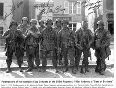 The Real Band of Brothers from the 506th Regiment of the 101st Airborne, Easy…