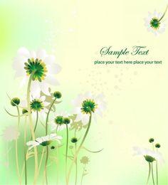Flower Design Summer Background Vector Graphic