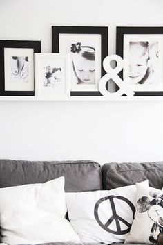 My picturewall over the sofa