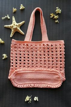 Crochet summer bag/ Crochet Handbags/ handmade beach bag/