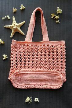 Crochet summer bag/ Crochet Handbags/ handmade beach bag/