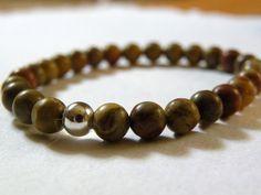 Oak     Rainbow Jasper Bracelet  Olive by ScorpionMoonDesigns, $41.00