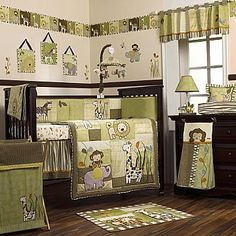 COCALO Baby : Nursery Collections : Neutral : Azaniae  Boy idea with a different color theme..I like the warm colors not a fan of the Safari animals