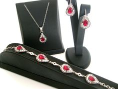 Rhinestone crystal vintage style wedding jewelry set wedding jewelry bridal jewelry set bridesmaid gifts