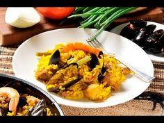Paella mixta. Con esta @receta verás que fácil es preparar @paella en casa. Se puede acompañar de una ensalada de lechugas.