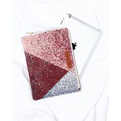 La housse pour ipad zippée bordeaux et rose – émoi émoi x Mapoésie