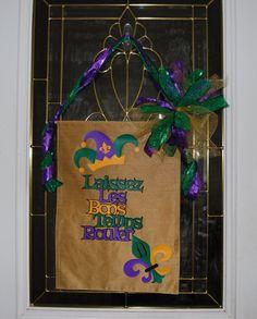 Mardi Gras Banner, Mardi Gras Door sign,  Mardi Gras Door Banner, Mardi Gras, Mardi Gras decoration, Laissez Les Bon Temps Rouler, Door sign