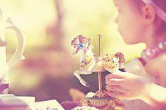 music box/carousel horse vintage tea party @Jessica Apple  www.jessicaapplephotography.com