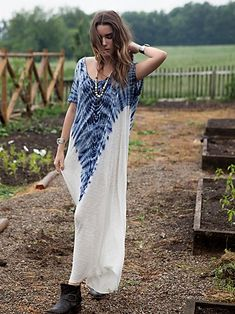 cool placed Tie Dye Maxi Dress from FP