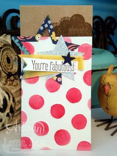 you're fabulous watercolor card - Hello Love, High Five Fork Bow, Stampin Up Catalog, Watercolor Cards, Cool Cards, Card Sizes, Stampin Up Cards, Envelopes, Ribbons, Hand Stamped