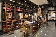 The world's largest Hackett London store is set to open on London's premier shopping street. metres store show. Shop Interior Design, Retail Design, Store Design, Interior Ideas, Boutique Store Front, Suit Shop, Shop Front Design, Shop Plans, Flat Design