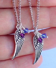 Angel Wing Necklaces Personalize for Mom by the3bartzdesigns, $38.00