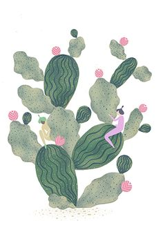 More cacti love <3 Work for my current project involving these two characters. You will see them reappearing in more of my work to come!