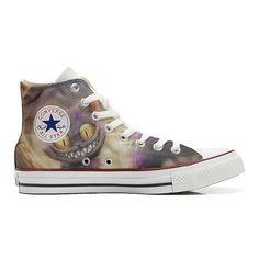 Converse All Star Hi Customized personalisierte Schuhe (Handwerk Schuhe) Damask Paisley