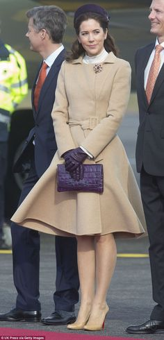 Chic: Princess Mary wore the exact same outfit in March 2015 (pictured), when she welcomed...