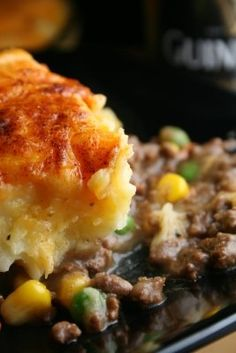 Guinness Shepherds Pie...made this for dinner tonight, but subtituted for the beef, and used mashed cauliflower in place of mashed potatoes...sssooo good!