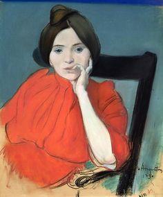 fleurdulys:  Portrait of a Woman - Louis Anquetin 1890