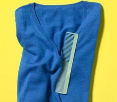 Comb as Sweater Depiller