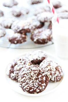 Vegan Chocolate Coconut Cookies www.twopeasandtheirpod.com
