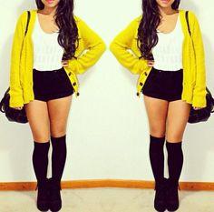 Yellow cardi