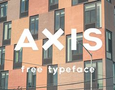 Axis typeface-free from Jean Wojciechowski on Behance Typography Love, Typography Letters, Typography Poster, Lettering, Cool Fonts, New Fonts, Free Typeface, Typeface Font, Geometric Font