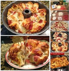Easy Pull Apart Pizza Bread I'm always looking for fast and easy recipes and this one definitely fits the bill! Try this Easy Pull Apart Pizza Bread recipe! It goes nicely with a side of pizza sauce as a dip too! Get creative with the dips. Think Food, I Love Food, Good Food, Yummy Food, Awesome Food, Fun Food, Pull Apart Pizza, Comida Diy, Great Recipes