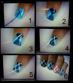 Try some of these designs and give your nails a quick makeover, gallery of unique nail art designs for any season. The best images and creative ideas for your nails. Fancy Nails, Diy Nails, Cute Nails, Hallographic Nails, Nail Nail, Pretty Nails, Plaid Nail Art, Plaid Nails, Sweater Nails