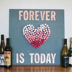 Save all your wine corks for this DIY-- A rad ombre cork board for your event or wedding