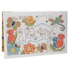 crafts n things flower of the month cross stitch series | Stand-Ups 031 Spring Welcome