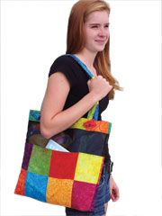An easy to sew tote bag.  Great to take to work with you for those odds and ends.  Kindle, your lunch and so much more.