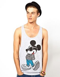 MY MICKEY GRUNGE VEST - ASOS Vest With Mickey Mouse Print