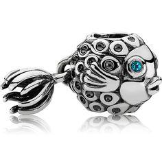 Pandora Splish-Splash Charm with Blue Topaz - Precious Accents