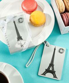 Eiffel Tower Luggage Tag Wedding Favors
