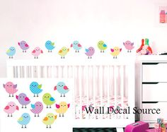 Hey, I found this really awesome Etsy listing at https://www.etsy.com/listing/214857564/bird-wall-decal-dotted-and-striped-birds